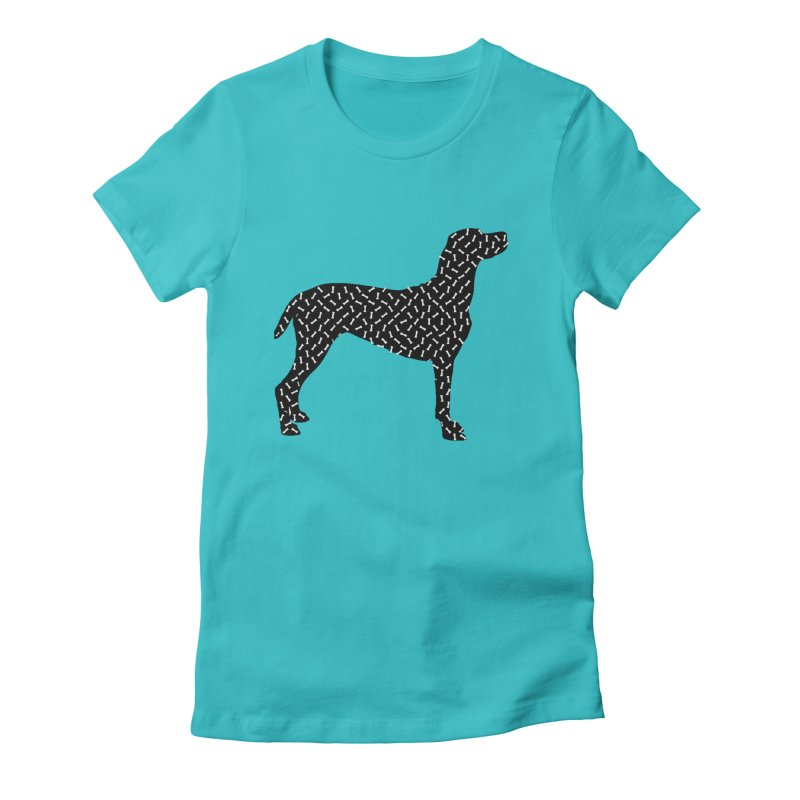 the greedy dog Women's Fitted T-Shirt by sustici's Artist Shop