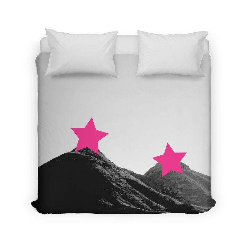 Censored Landscape Home Duvet by sustici's Artist Shop