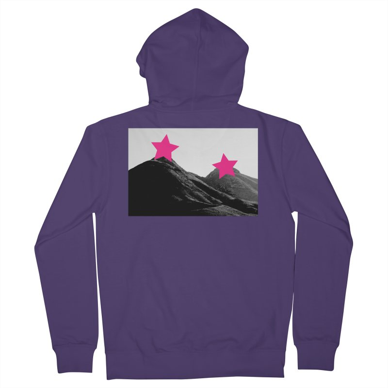 Censored Landscape Women's French Terry Zip-Up Hoody by sustici's Artist Shop