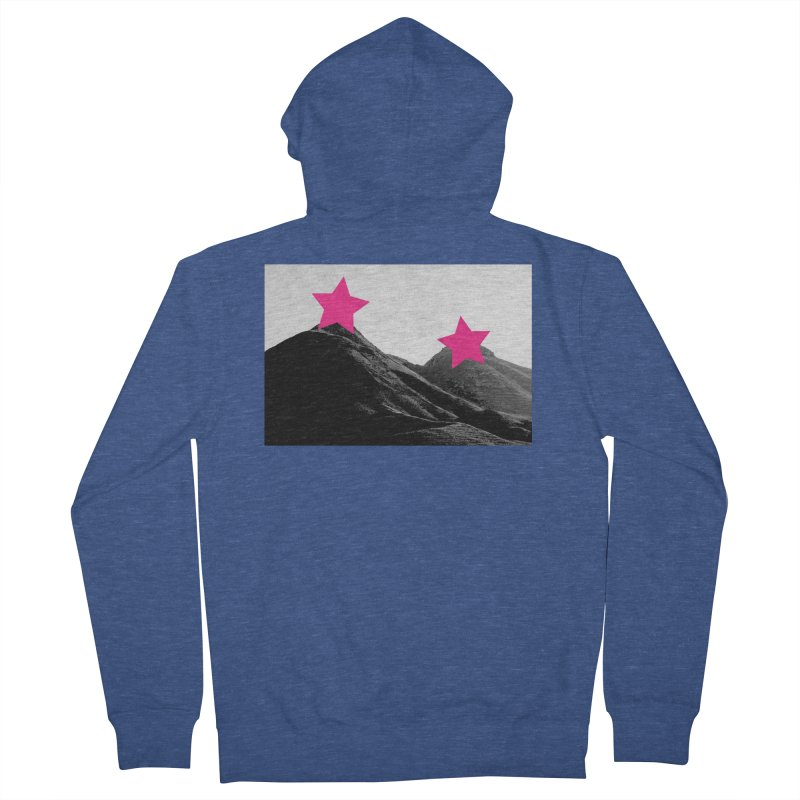 Censored Landscape Men's French Terry Zip-Up Hoody by sustici's Artist Shop