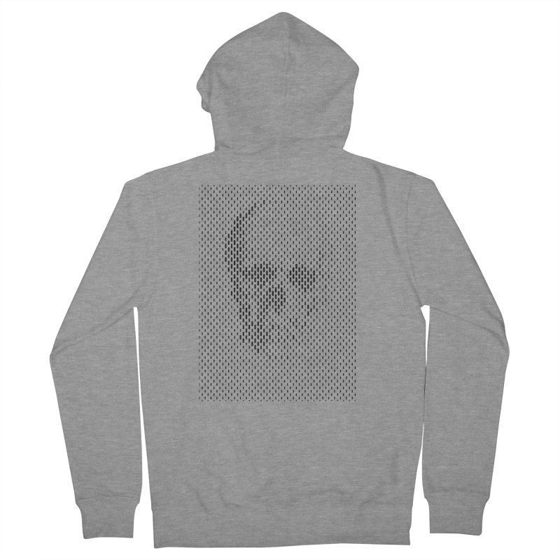 Almost Skull Women's French Terry Zip-Up Hoody by sustici's Artist Shop