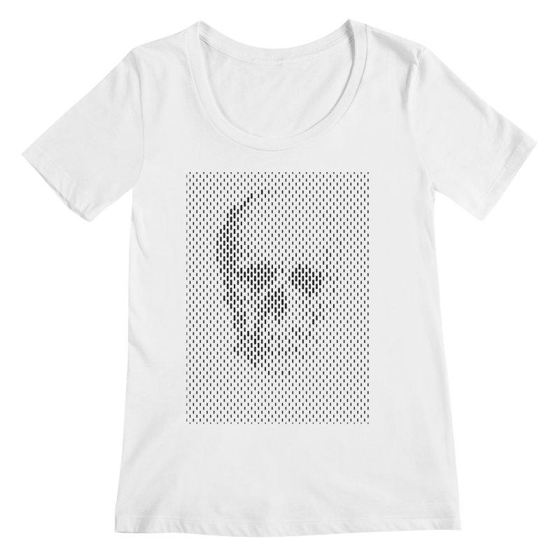 Almost Skull Women's Regular Scoop Neck by sustici's Artist Shop