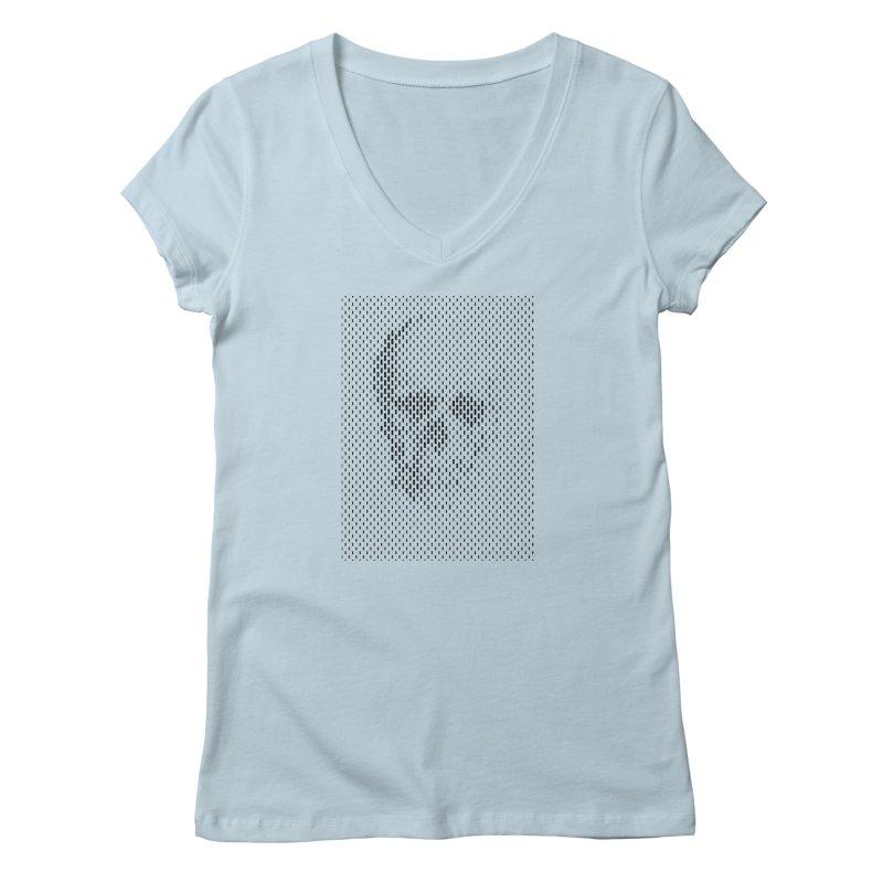 Almost Skull Women's V-Neck by sustici's Artist Shop