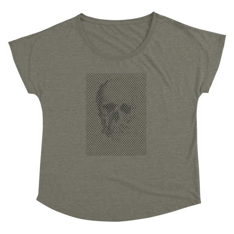 Almost Skull Women's Dolman Scoop Neck by sustici's Artist Shop