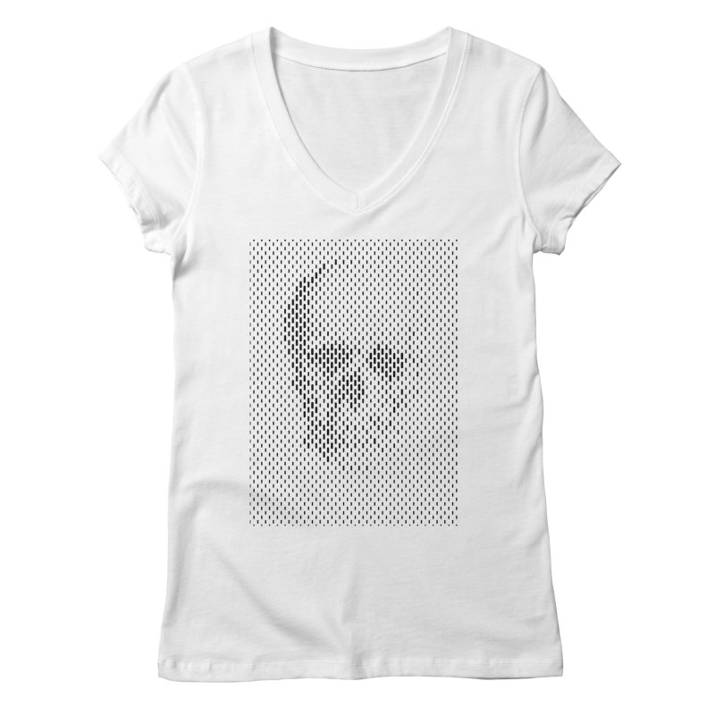 Almost Skull Women's Regular V-Neck by sustici's Artist Shop