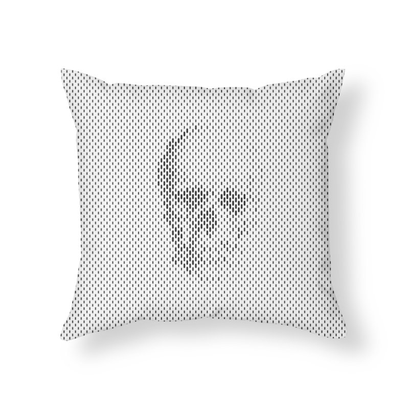 Almost Skull Home Throw Pillow by sustici's Artist Shop