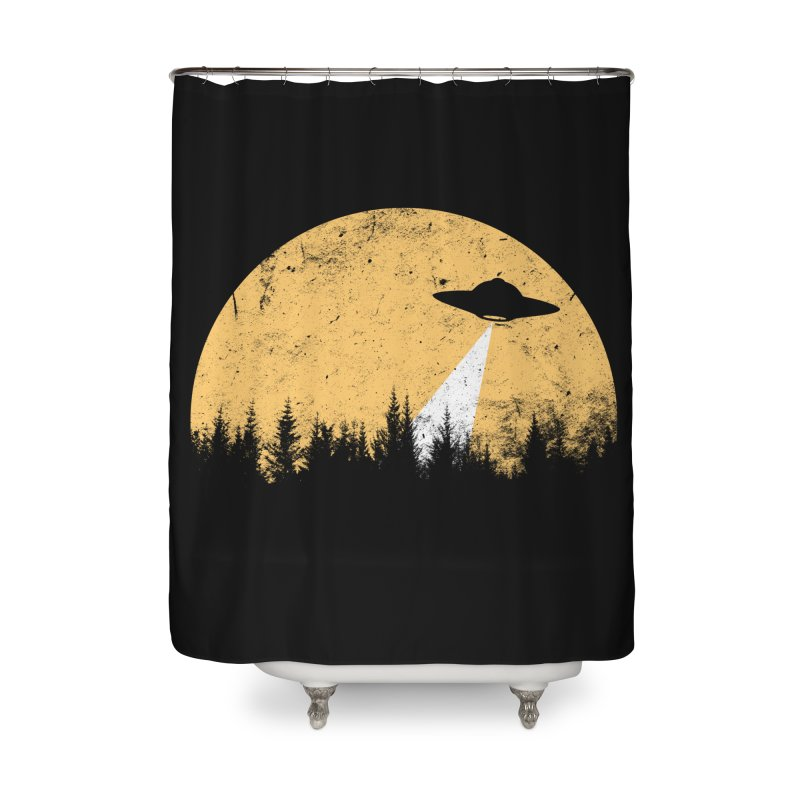 UFO Home Shower Curtain by sustici's Artist Shop