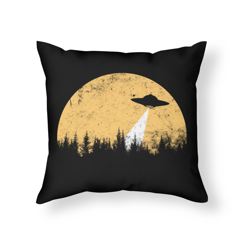 UFO Home Throw Pillow by sustici's Artist Shop