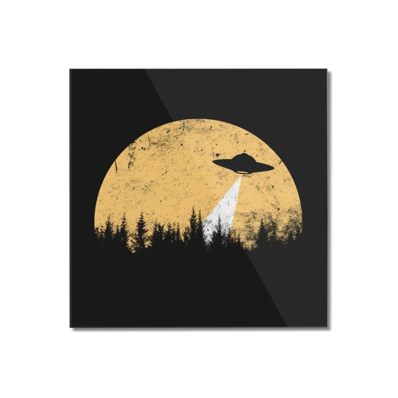UFO Home Mounted Acrylic Print by sustici's Artist Shop