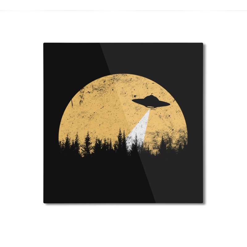 UFO Home Mounted Aluminum Print by sustici's Artist Shop