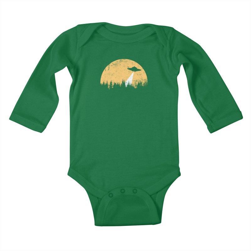 UFO Kids Baby Longsleeve Bodysuit by sustici's Artist Shop