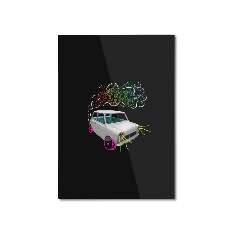 fast and furious Home Mounted Aluminum Print by sustici's Artist Shop