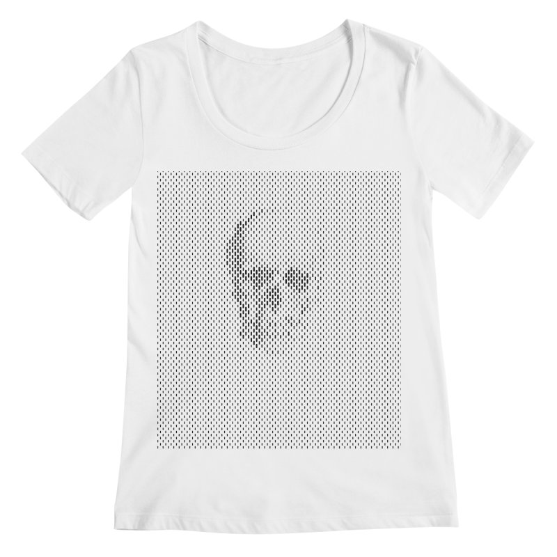 Sku// Women's Regular Scoop Neck by sustici's Artist Shop