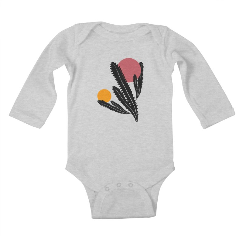 Prickly Plant Kids Baby Longsleeve Bodysuit by sustici's Artist Shop