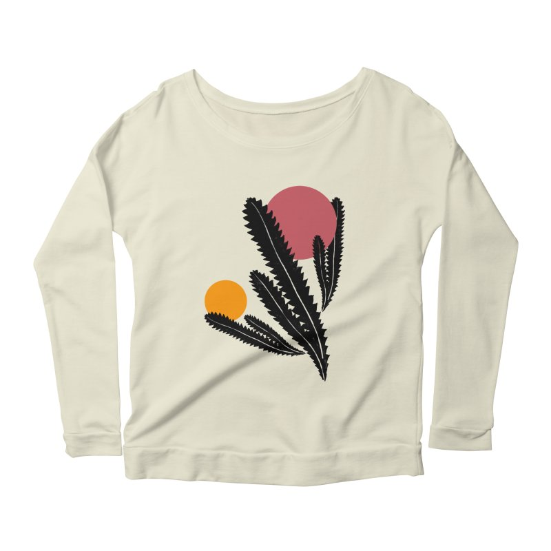 Prickly Plant Women's Scoop Neck Longsleeve T-Shirt by sustici's Artist Shop
