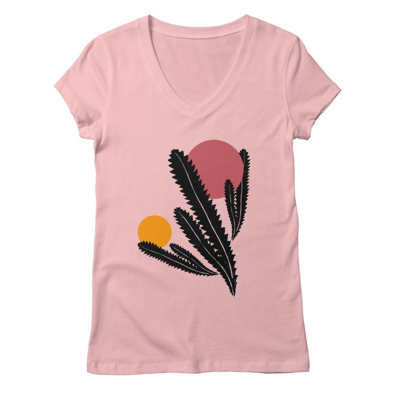 Prickly Plant Women's Regular V-Neck by sustici's Artist Shop