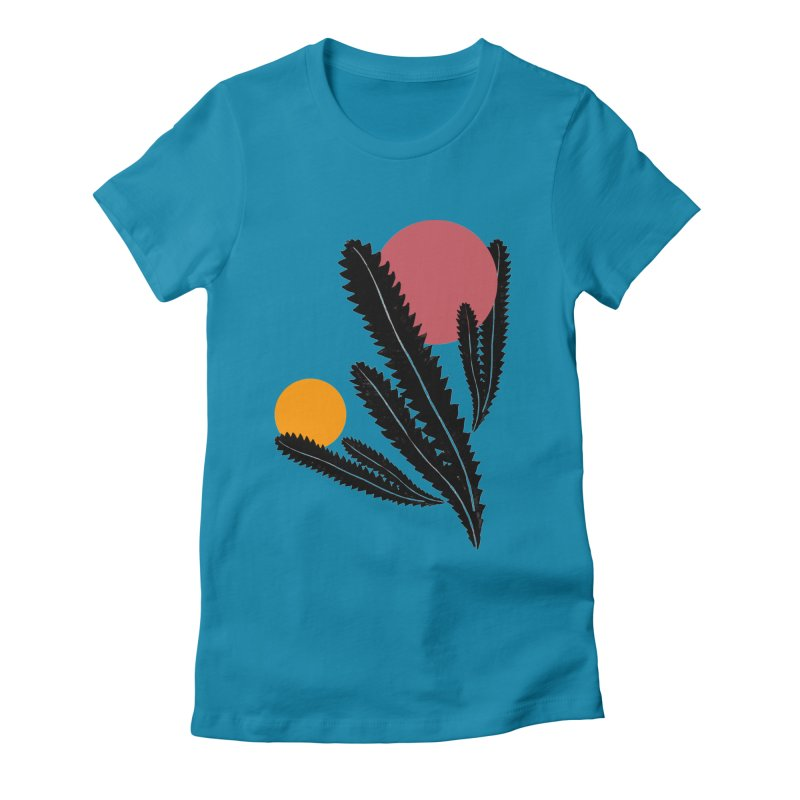Prickly Plant Women's Fitted T-Shirt by sustici's Artist Shop