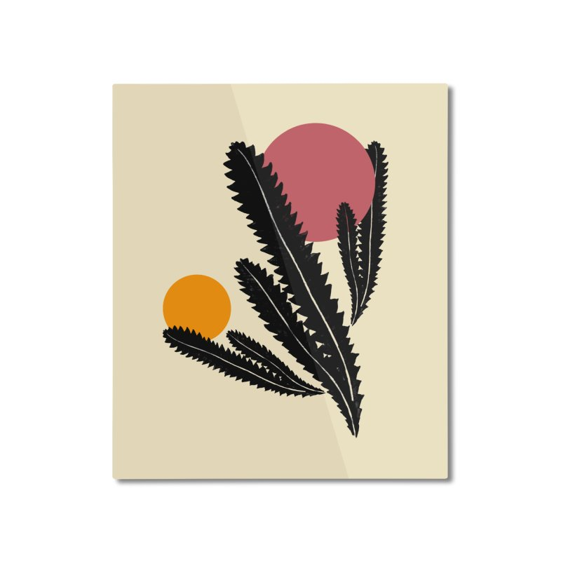 Prickly Plant Home Mounted Aluminum Print by sustici's Artist Shop