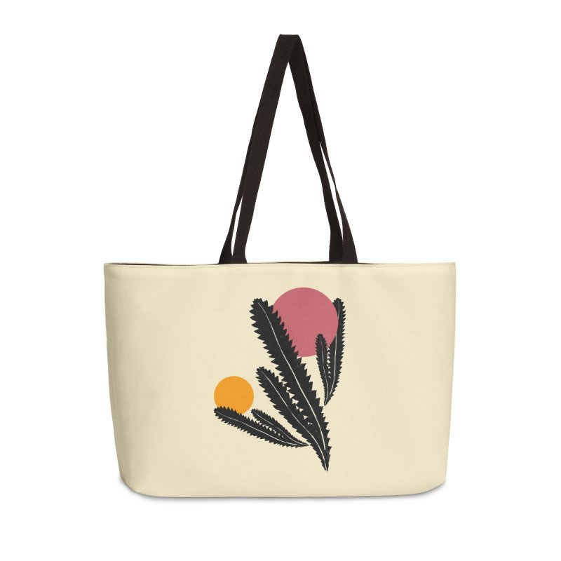 Prickly Plant Accessories Weekender Bag Bag by sustici's Artist Shop