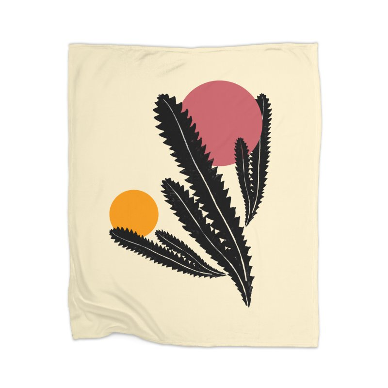 Prickly Plant Home Blanket by sustici's Artist Shop