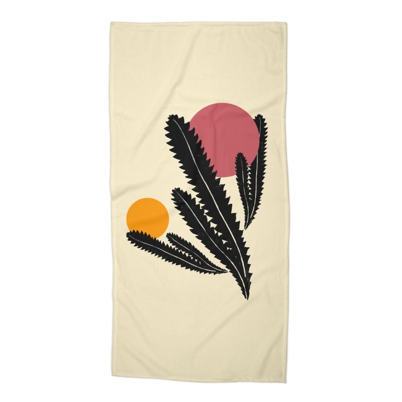 Prickly Plant Accessories Beach Towel by sustici's Artist Shop