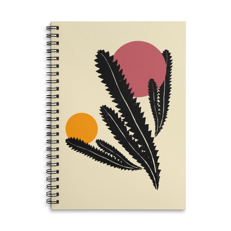 Prickly Plant Accessories Lined Spiral Notebook by sustici's Artist Shop