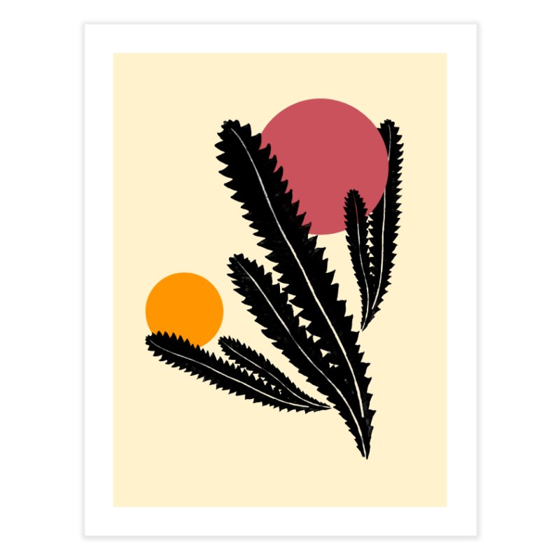 Prickly Plant Home Fine Art Print by sustici's Artist Shop
