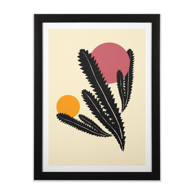 Prickly Plant Home Framed Fine Art Print by sustici's Artist Shop