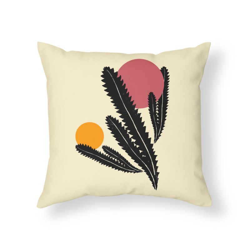 Prickly Plant Home Throw Pillow by sustici's Artist Shop