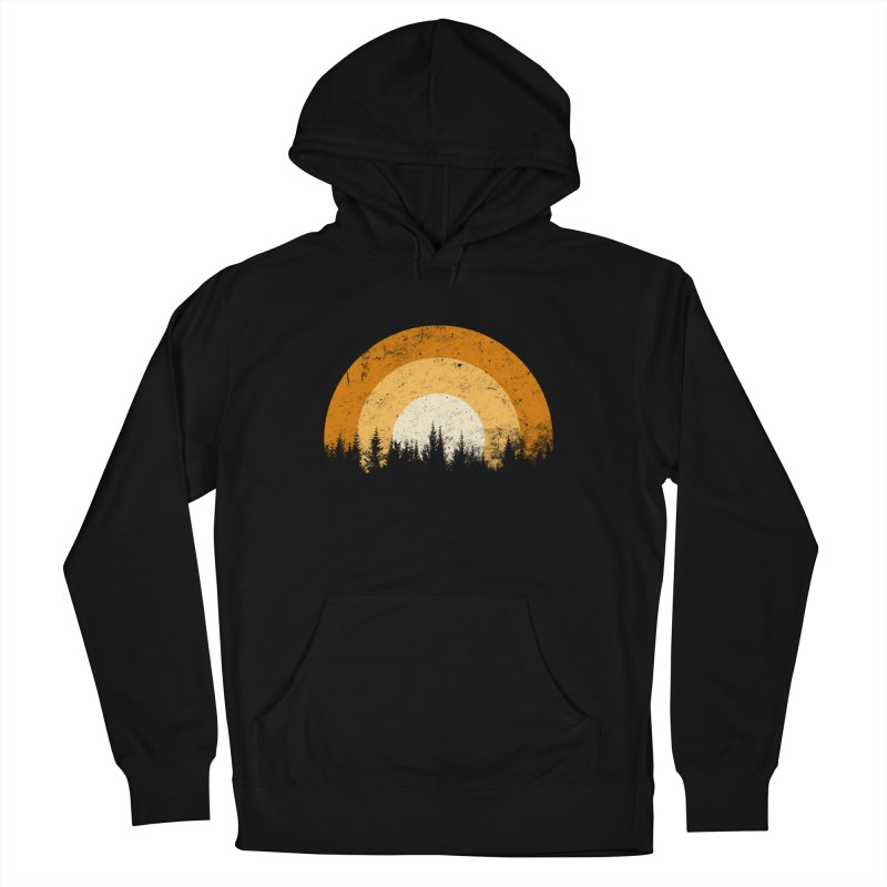 WARM FOREST Women's French Terry Pullover Hoody by sustici's Artist Shop