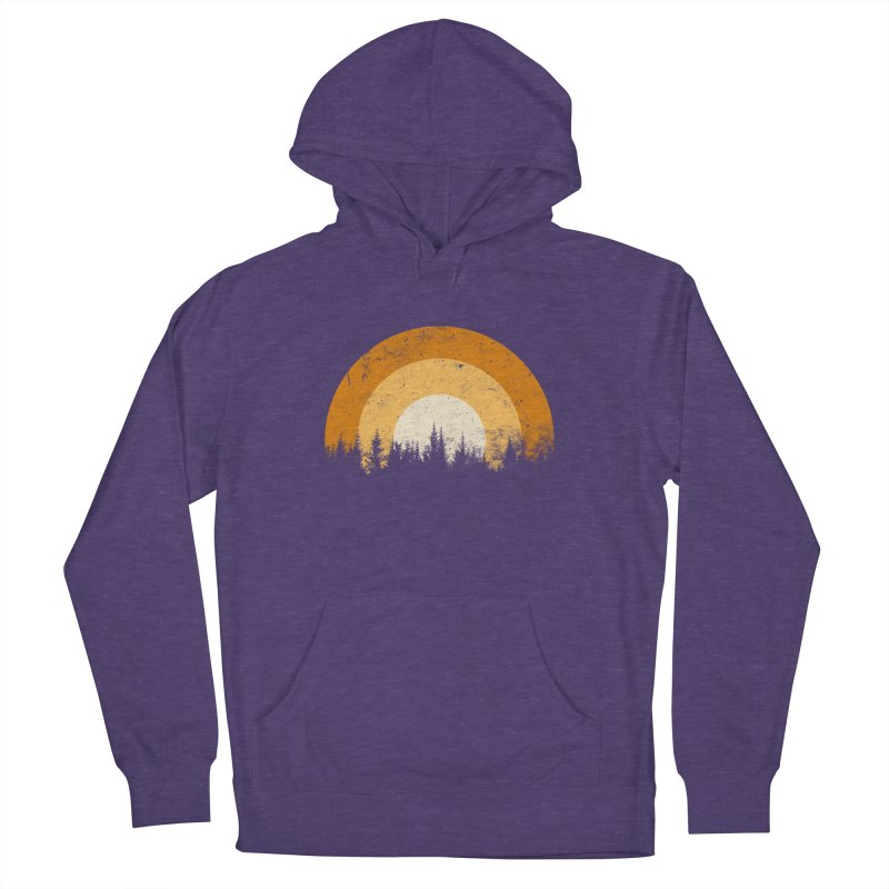 WARM FOREST Men's French Terry Pullover Hoody by sustici's Artist Shop