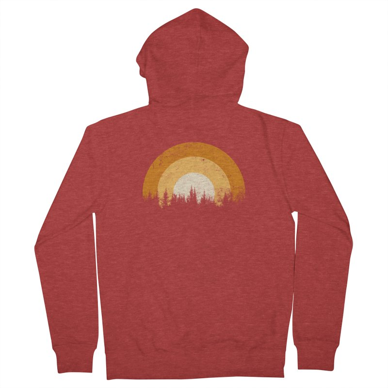 WARM FOREST Men's French Terry Zip-Up Hoody by sustici's Artist Shop