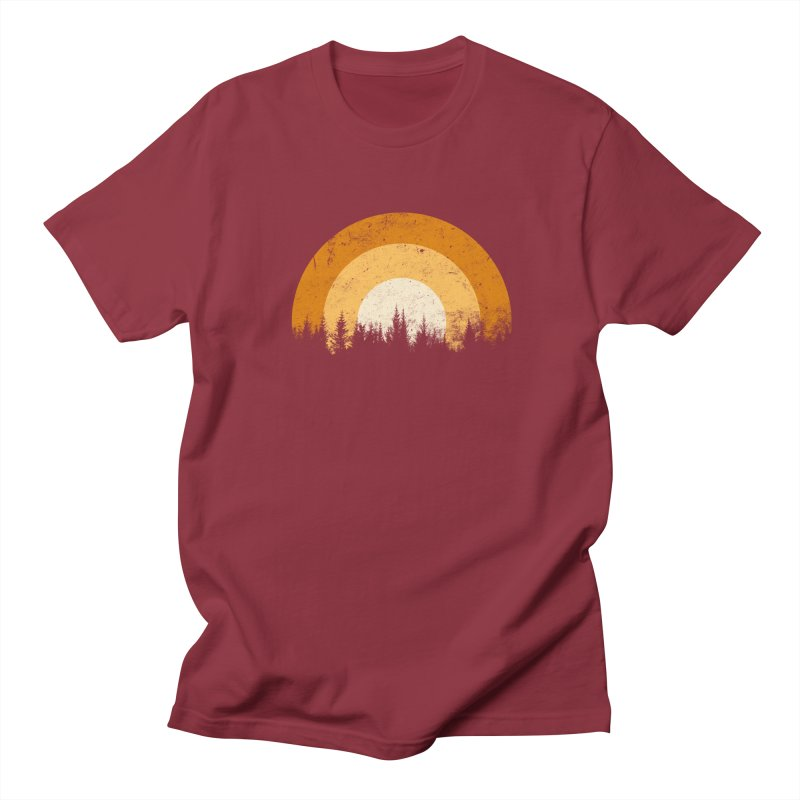 WARM FOREST Men's Regular T-Shirt by sustici's Artist Shop