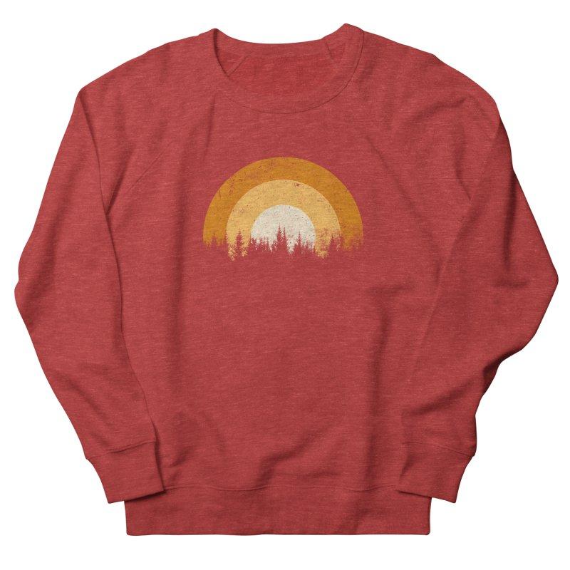 WARM FOREST Men's French Terry Sweatshirt by sustici's Artist Shop