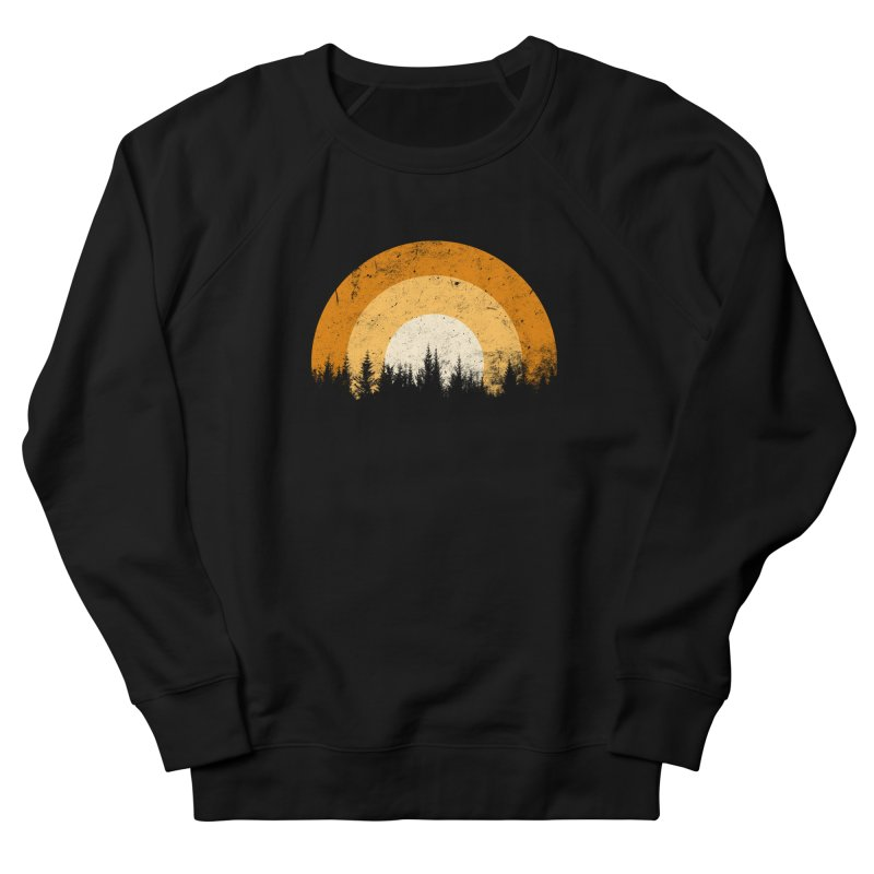 WARM FOREST Men's French Terry Sweatshirt by sustici's Artist Shop