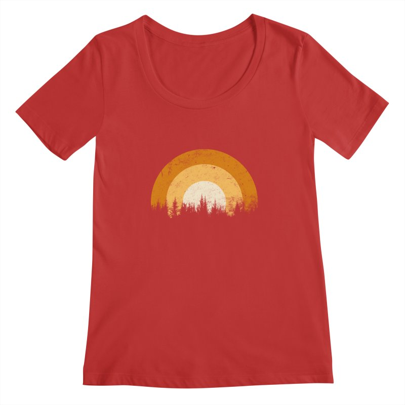 WARM FOREST Women's Regular Scoop Neck by sustici's Artist Shop