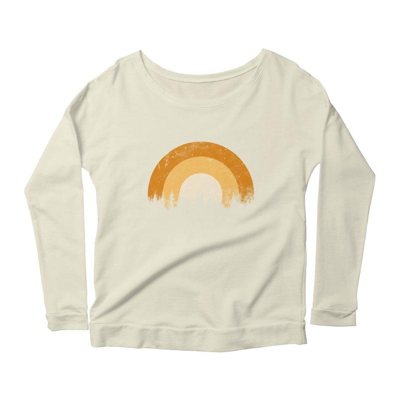 WARM FOREST Women's Scoop Neck Longsleeve T-Shirt by sustici's Artist Shop