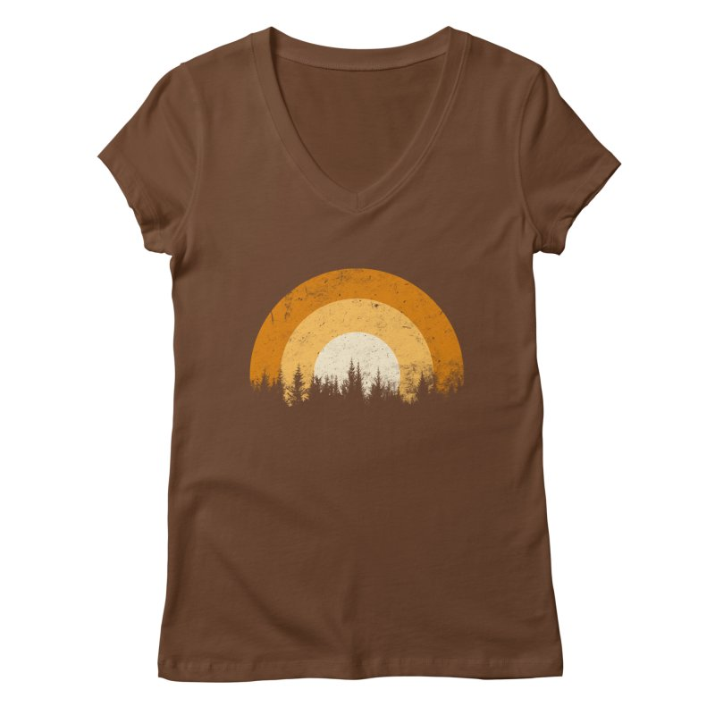 WARM FOREST Women's Regular V-Neck by sustici's Artist Shop