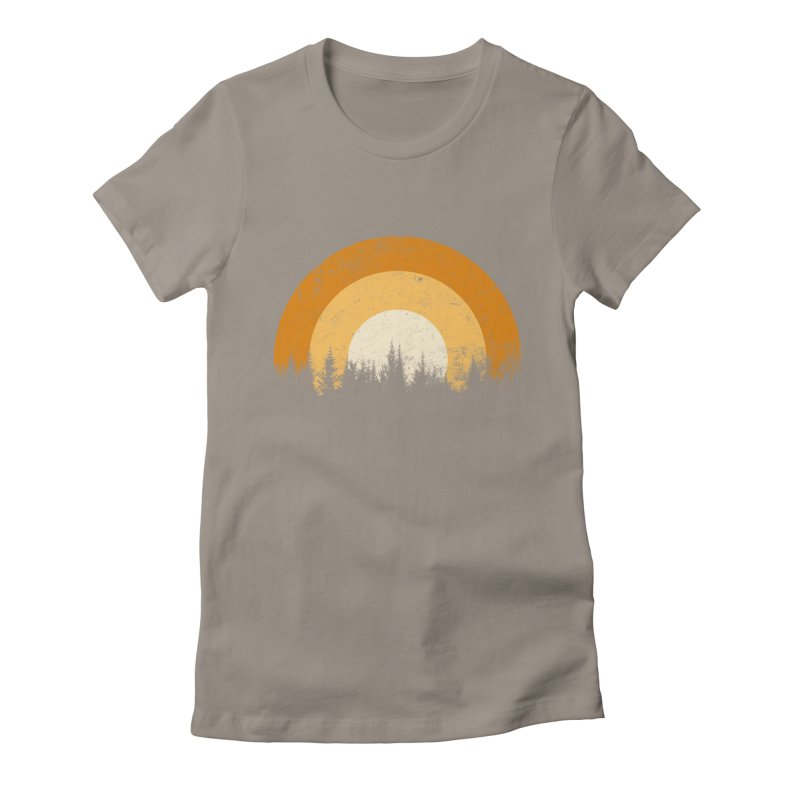 WARM FOREST Women's Fitted T-Shirt by sustici's Artist Shop