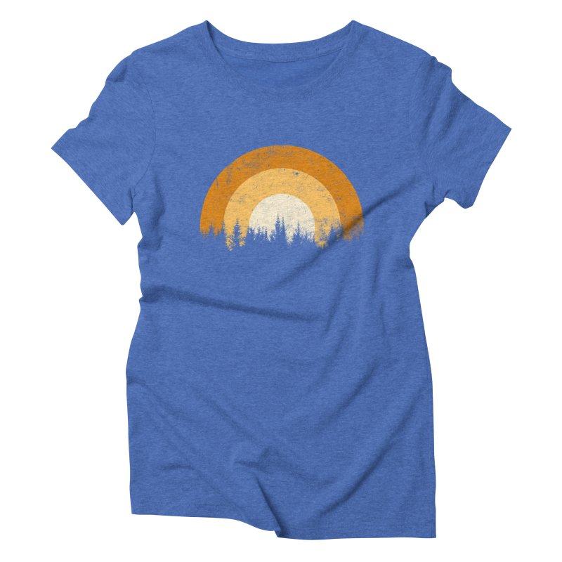 WARM FOREST Women's Triblend T-Shirt by sustici's Artist Shop