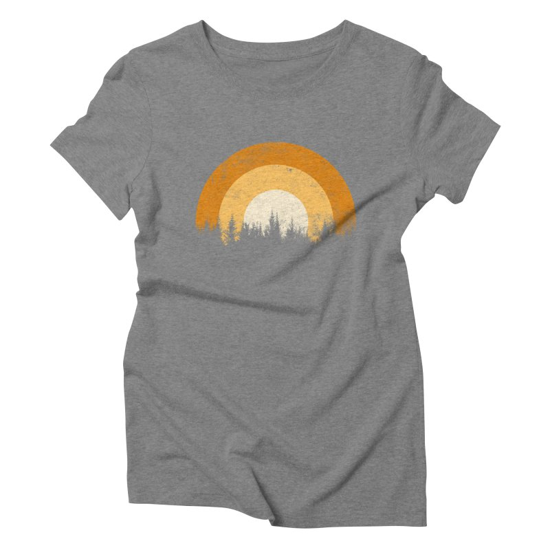 WARM FOREST Women's Triblend T-Shirt by sustici's Artist Shop