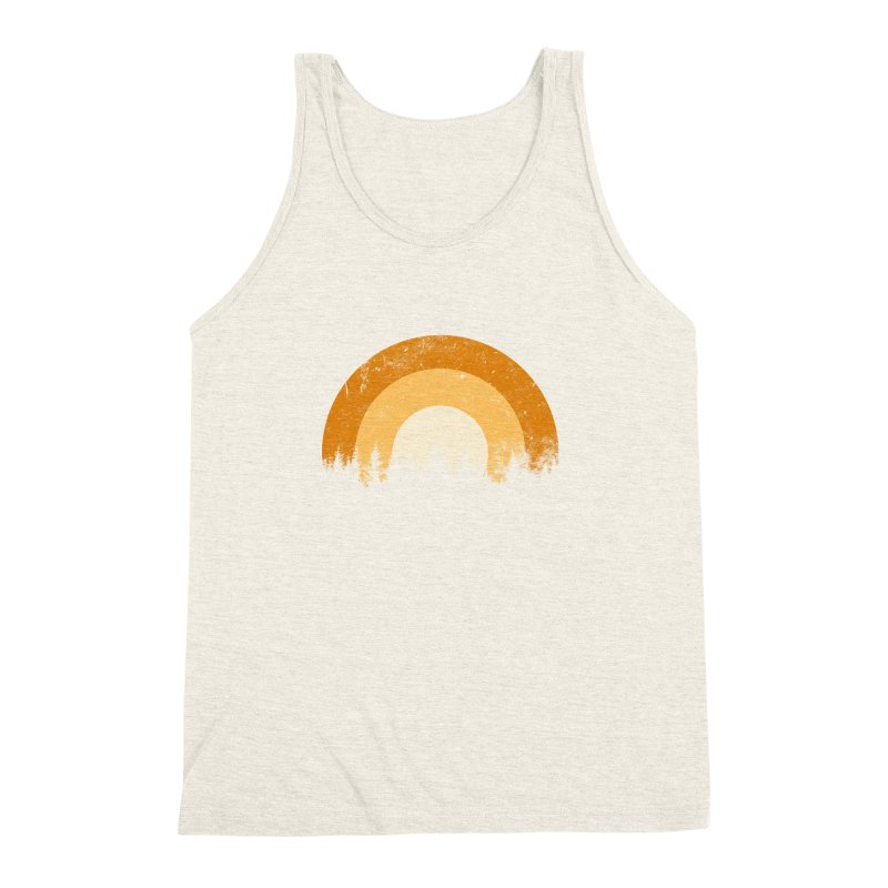 WARM FOREST Men's Triblend Tank by sustici's Artist Shop