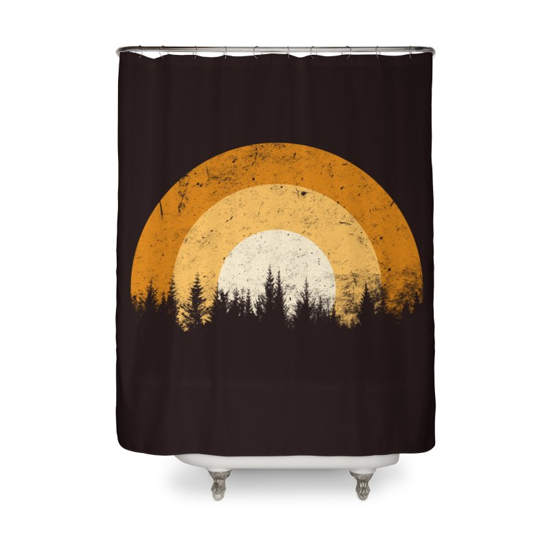 WARM FOREST Home Shower Curtain by sustici's Artist Shop