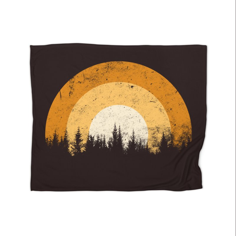WARM FOREST Home Fleece Blanket Blanket by sustici's Artist Shop