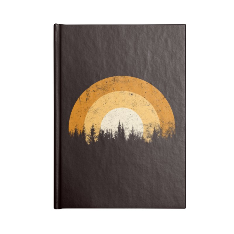WARM FOREST Accessories Lined Journal Notebook by sustici's Artist Shop