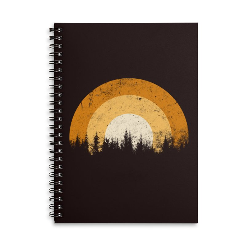 WARM FOREST Accessories Lined Spiral Notebook by sustici's Artist Shop