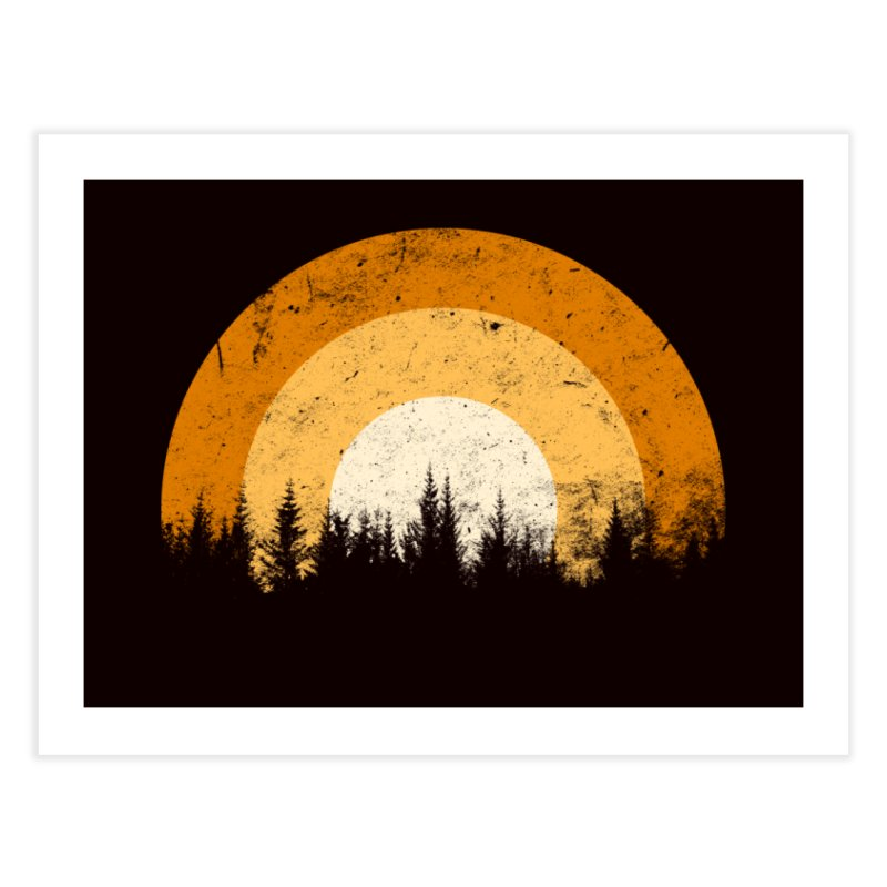 WARM FOREST Home Fine Art Print by sustici's Artist Shop