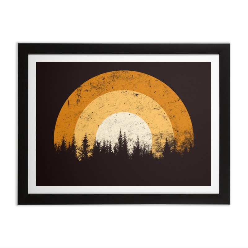 WARM FOREST Home Framed Fine Art Print by sustici's Artist Shop
