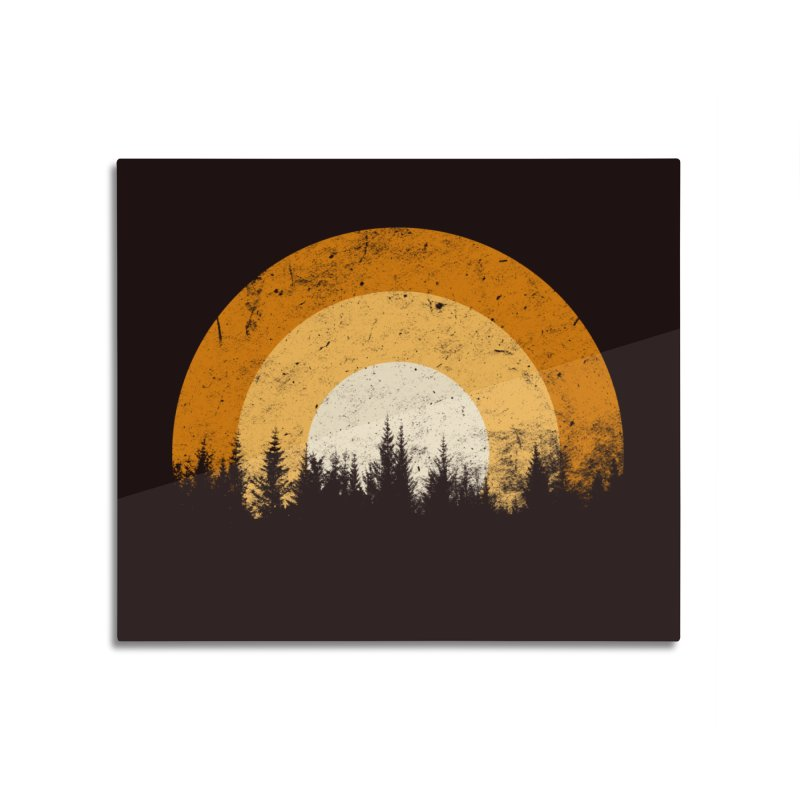 WARM FOREST Home Mounted Aluminum Print by sustici's Artist Shop