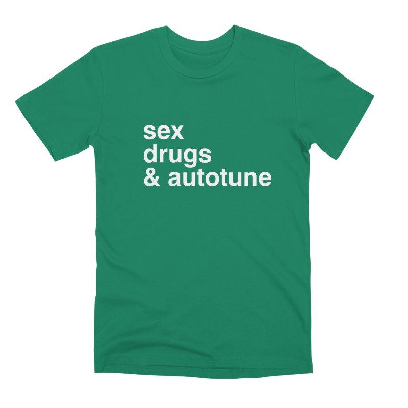 sex, drugs & autotune Men's Premium T-Shirt by sustici's Artist Shop